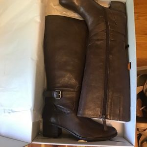 Brown Nine West Riding Boots Size 7.5 Brand New